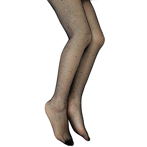 Anlaey Rhinestone Fishnets Fishnet Stockings Festival Glitter Tights Sparkle Rave Fishnet Tights for Women