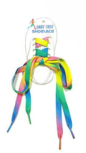 Kelly Ripa Clothes (BabyFirst Mens Shoelaces Rainbow Multi-Colors Flat Shoe)