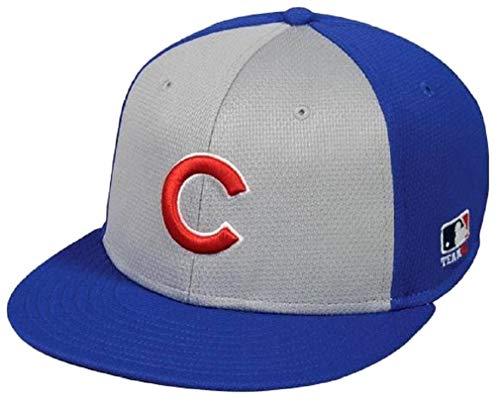 OC Sports Chicago Cubs MLB Colorblock Gray Blue Flat Brim Hat Cap Adult Men's Adjustable