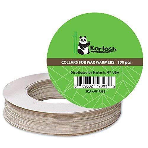 Karlash Pot Wax Warmer Clean Premium Collars Fits Most 14 oz can Warmer (Pack of 100)