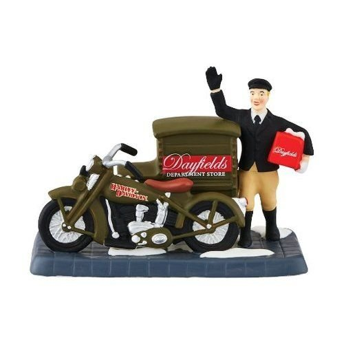 Harley Davidson Collectible Doll (Department 56 Christmas in the City Village Harley Delivers Christmas Accessory Figurine, 2.95