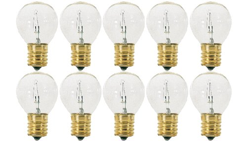 (Pack Of 10) 25S11/N - 25 Watt Clear (E17) Intermediate Base Hi-Intensity Light Bulbs