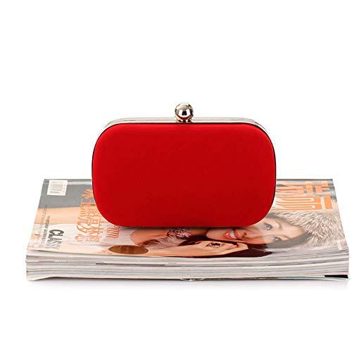 Chain Red Banquet Clutch Women's Bag Women's Velvet fashion Bag Bag Bag Bagood Bag Fashion 6Bzwqx
