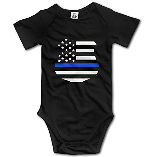 JDFIF FJFS Infant Baby Outfit Creeper Short Sleeves Onesies - Police K9 Thin Blue Line