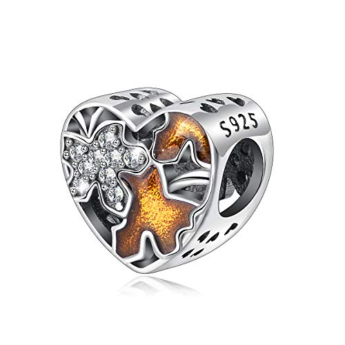 Tree of Life Charms Bead, 925 Sterling Silver Spiritual Charm, Nature Luck Inspiration Charm Beads for Bracelets & Necklace Making, CELESTIA Fine Jewelry, Gift for Women Girls