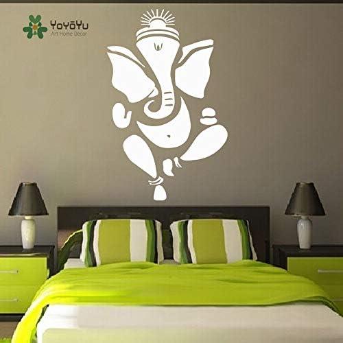 Ajcwhml Tatuajes de Pared Indian Ganesha Elefante Vinilo Decoración para el hogar Mural Yoga Studio Art Repetable Posters 35X57cm: Amazon.es: Hogar