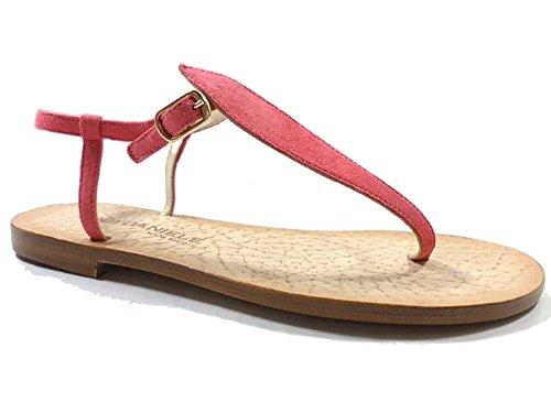 Zapatos Mujer EDDY DANIELE 37 Sandalias Rosa Gamuza AX912