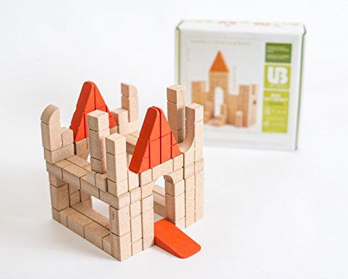 - Unit Bricks Wooden Building Blocks Set - 40 Pcs Educational STEM Toy for Boys & Girls of Ages 3+