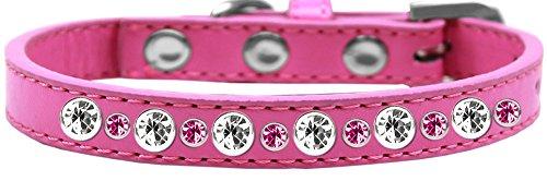 Posh Jewelled Dog Collar with Rhinestones (16, Bright Pink) (Pet Collar Posh)