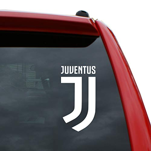 Black Heart Decals & More Juventus Logo Vinyl Decal Sticker | Color: White | 5