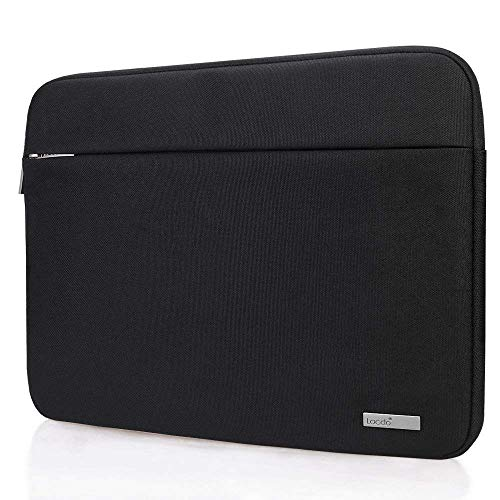 Lacdo 13 Inch Laptop Sleeve Case Compatible 13.3 Old MacBook Air | 13 MacBook Pro Retina 2012-2015 | 12.9 Inch iPad Pro | Surface Book 2 | Dell HP ASUS Samsung Lenovo Chromebook Notebook Bag, Black