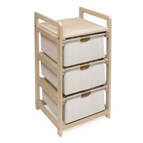 Badger Basket 3 Drawer Hamper/Storage Unit, Natural (Badger Fabric Basket)