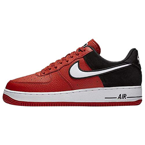 Nike Air Force 1 White - Nike Men's Air Force 1 LV8 Mystic Red/White/Black Leather Casual Shoes 10.5 M US