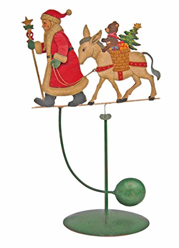AMERICANIZATION Santa with Donkey Balance Toy