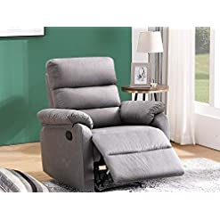 Living Room Danxee Recliner Chair Reclining Chair Modern Fabric Recliner Home Theater Seating Manual Bedroom & Living Room Chair…