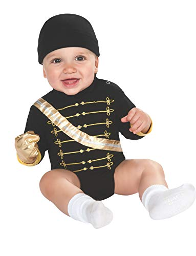 Michael Jackson Military Jacket Onesie Costume, Black, 6-12 Months -