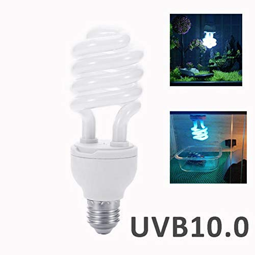 Gereton Reptile UVB Bulb 26W High UVB Output Desert Compact Fluorescent Bulb for Amphibian Tortoise Lizard Succulent Plants Improve D3 Synthesis Increase Calcium Absorption UVB Lamp