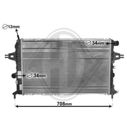 Diederichs DCM2623 Radiator, radiator: