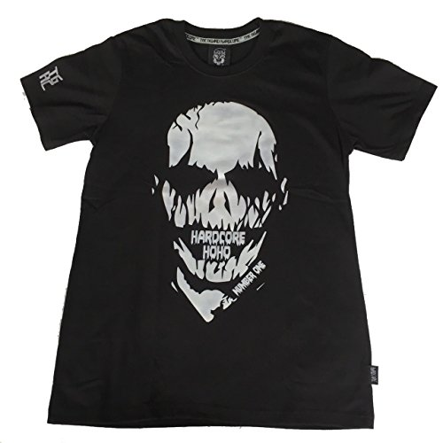 Skull T-Shirt Cotton 100% Unisex For Halloween Biker, Tattoo, Punk Rock, Black Size - Missouri Stores Outlet In