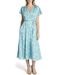 Women's Flutter Sleeve Surplus Wrap Dress