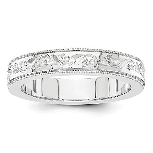 White Wedding Carved Band Gold - Jewelry Stores Network Solid 14k White Gold mm Fancy Carved Milgrain Wedding Band Ring