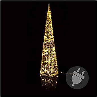 Weihnachtsbeleuchtung Fenster Pyramide.Pyramide 90 Cm Hoch Weihnachtsbeleuchtung Warmweiss Led Für Aussen
