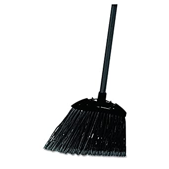 Rubbermaid Commercial Products FG637400BLA Lobby Dust Pan Broom, Black