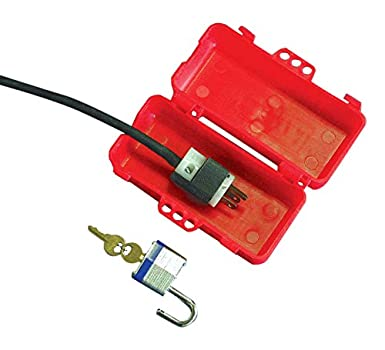 Plastic Multiple Entry Plug Lockout in Red NMC LP550 Danger Plug Lockout This Lockout Device May only be Removed by Lockout x 3.25 in 4 in