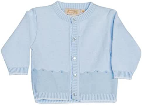 Boutique Collection Boy Toddler Crew Neck Button Down Sweater 6 Months Blue