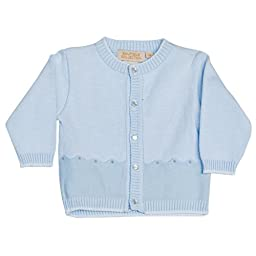 Boutique Collection Boy Toddler Crew Neck Button Down Sweater 3 Months Blue