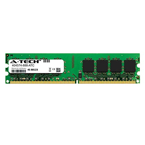 Ddr2 800 1gb Original Memory - A-Tech 1GB Replacement for HP 404574-888 - DDR2 800MHz PC2-6400 Non ECC DIMM 1.8v - Single Desktop & Workstation Memory Ram Stick (404574-888-ATC)