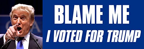 BLAME-ME-I-Voted-for-TRUMP-Bumper-Sticker-gop-president-donald