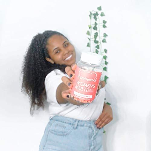 SugarBearHair Women's Multi Vegan MultiVitamin with Glutathione, Vegan Omega-3, Folate, Vegan Collagen Booster Blend (1 Month Supply)