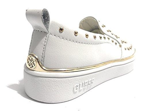 Denk Flgoe1 Lea12 Slip Op Schoenen Vrouwen Bianco
