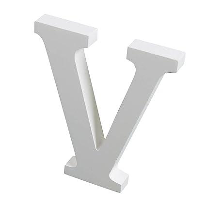 Hight: 15cm // 6 Risbuy Grandes Letras de Madera Blancas Inicio Tienda de Oficina Artesan/ías de Banquete de Boda Decoraciones de Letras