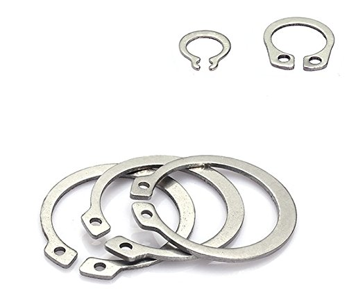 Pack 100 Piece External Retaining Ring Assortment Set Stainless Steel,STW
