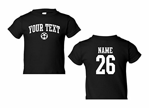 Number Toddler Jersey T-shirt - Toddler Custom Personalized T-shirt, Soccer Arched Text, Back Name & Number