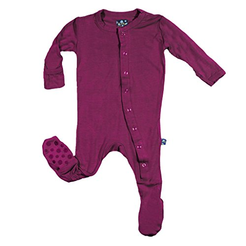 KicKee Pants Footies with Paws - Orchid-Newborn