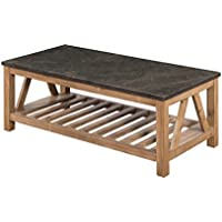 Sunny Designs 3242DS-C Blue Moon Coffee Table with Bluestone Top