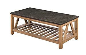 Sunny Designs 3242DS C Blue Moon Coffee Table With Bluestone Top