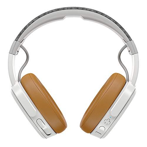 Black Adjustable and Immersive Stereo Haptic Bass Rapid Charge 40-Hour Battery Life Noise Isolating Memory Foam Skullcandy Crusher Bluetooth Wireless Over-Ear Headphone with Microphone