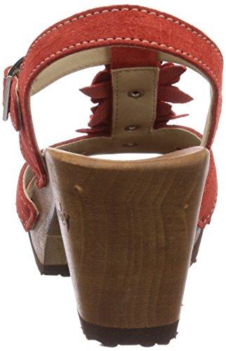 Rot Mules Woody Women's Red Sarah Aurora OxwBqSn
