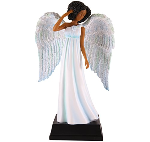 (African American Expressions - Light Blue Angel Polyresin Figurine (5.5