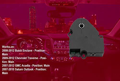 Air Door Actuator K140A for 2008-2012 Buick Enclave, 2009-2012 Chevy Traverse, 2007-2012 GMC Acadia, 2007-2010 Saturn Outlook Blend Door Actuator Replaces# 15-73989, 604-140, 20826182, 1573989 by KEDAKEJI (Image #2)