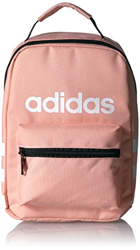 adidas Unisex Santiago Insulated Lunch Bag, Glow Pink/White, ONE SIZE