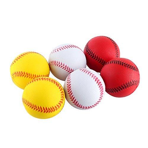 Mini Sports Stress Balls Baseballs Fun, 6-Pack