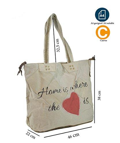 35ecdcb7cc467 Sunsa Damen Vintage Tasche Shopper Schultertasche Handtasche aus Canvas    Segeltuch mit Leder ...