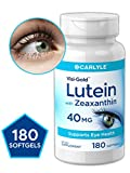 Carlyle Lutein 40 mg with Zeaxanthin 180 Softgels Eye Health