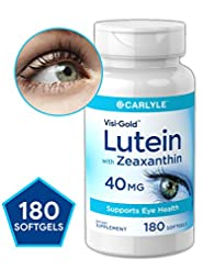 Lutein and Zeaxanthin 40 mg | 180 Softge...