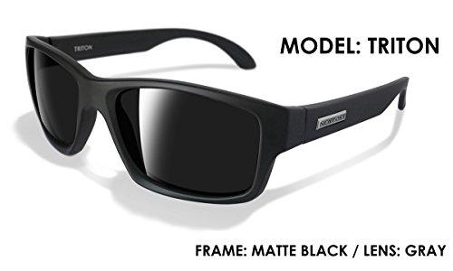 NEWPORT POLARIZED Sunglasses TRITON Matte Black / Polarized Grey - Sunglasses Polarized Newport